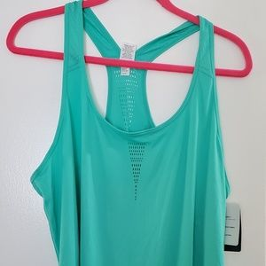 Green racer back athletic top